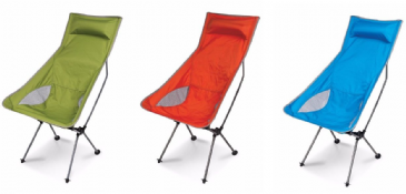 Kampa Tote Compact Chair - Orange, Blue & Green